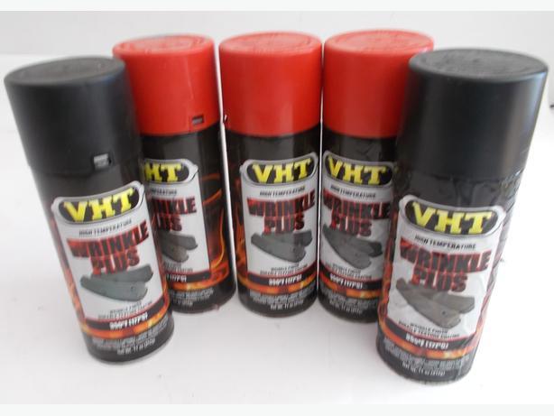 Joblot of 5 VHT Wrinkle PLus Sprays Black & Red