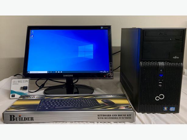 FUJITSU I3 Small Computer Desktop PC & Samsung 20 LCD Widescreen
