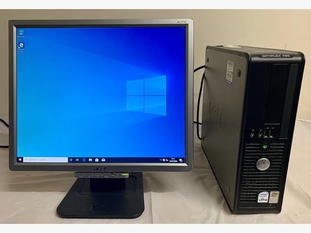 Dell Optiplex Computer Desktop Pc With Acer 17 LCD Screen