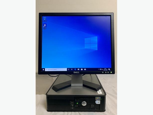 Dell Optiplex Computer Desktop Pc With Dell 19 LCD Screen