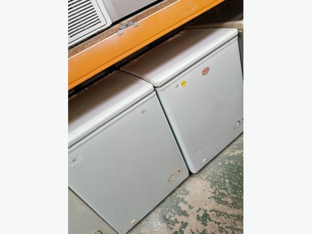 Swan chest freezers with warranty at Recyk Appliances