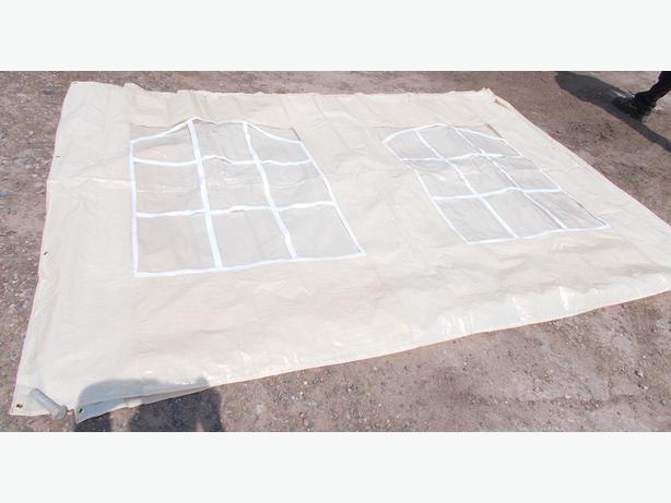 Gazebo Panel With Windows Darker Cream Colour 192.5cm x 285cm