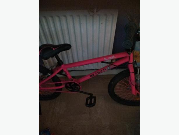 Girls pink bmx