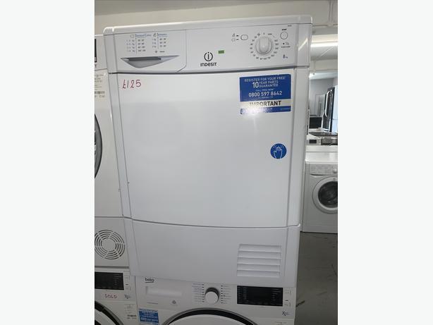 PLANET APPLIANCE - 8KG INDESIT CONDENSER DRYER IN WHITE