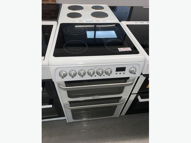 PLANET APPLIANCE - 60CM HOTPOINT ELECTRIC COOKER IN WHITE