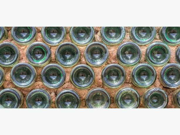 Free.... Green Glass wine Bottles