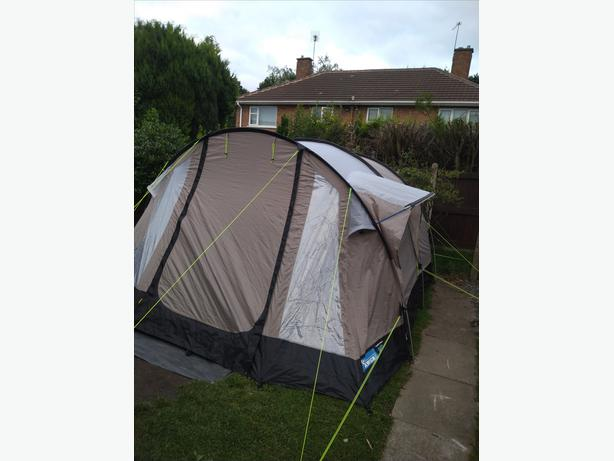 Kampa oxwich 5 tent  nice large family tent with separate extension.
