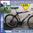 Author Aluminium Bike. 21 speed. 26 inch wheels.