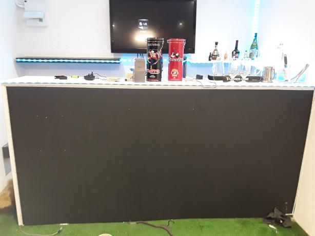 Home made bar with leds