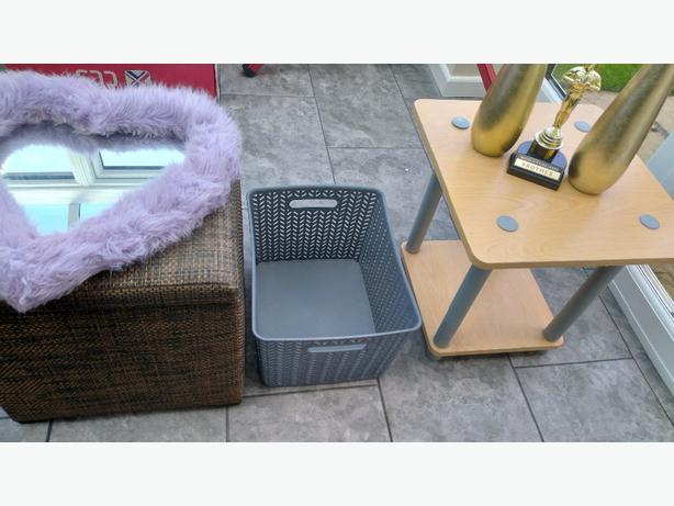 car boot job lot table storage box etc 10 Items