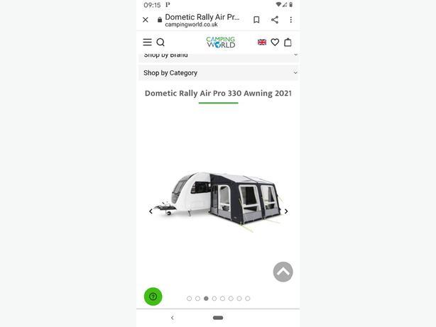 2021 kampa domestic awning rally air pro