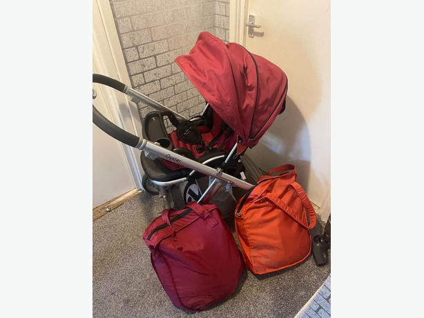 oyster pushchair and carrycot system