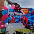 sweetcart for kids themed party set up