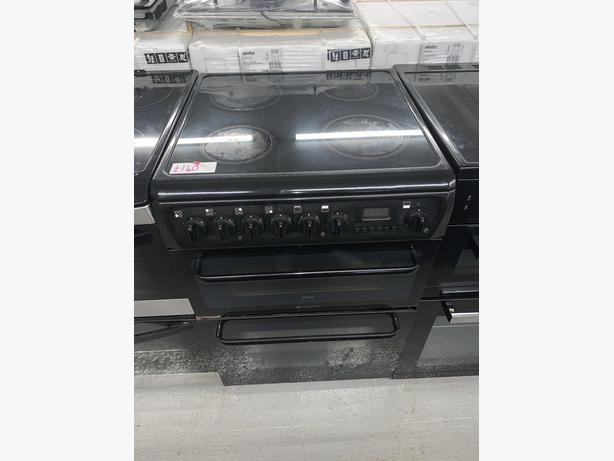 PLANET APPLIANCE - 60CM HOTPOINT ELECTRIC COOKER BLACK