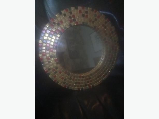 mosaic small mirror