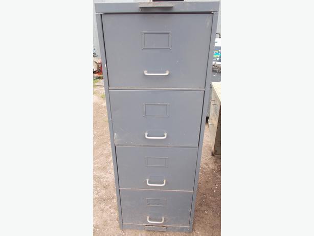 Grey 4 Draw Metal Filing Cabinet