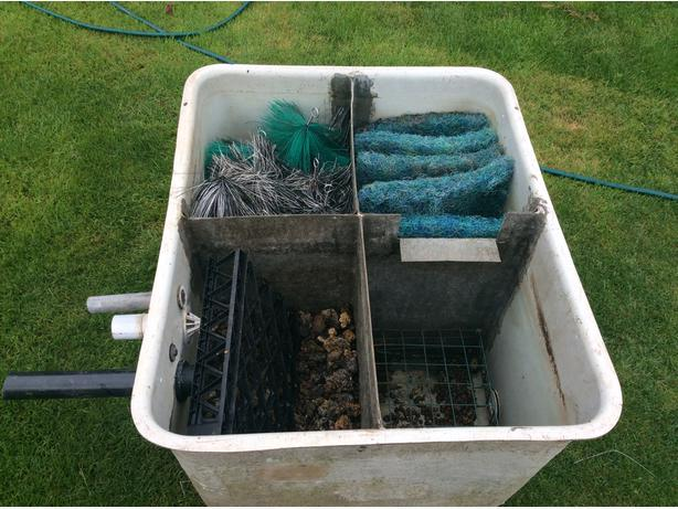 Fish pond filter box