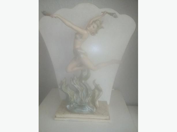 lady figurine lamp