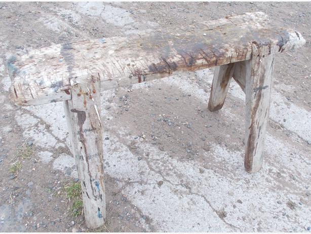 Vintage Carpenters Joiners Tressles Work Saw Horse Bench Wooden Prop