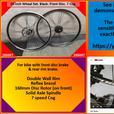 26 inch Black Reflex Wheel Set. Front Disc. 7 cog.