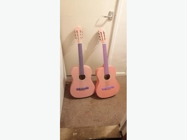pink acoustic guitar - delivery - £15 -