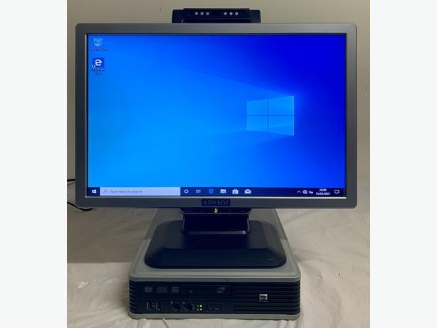 HP Elite Ultra Slim Form Computer Desktop PC & 19 Widescreen Monitor