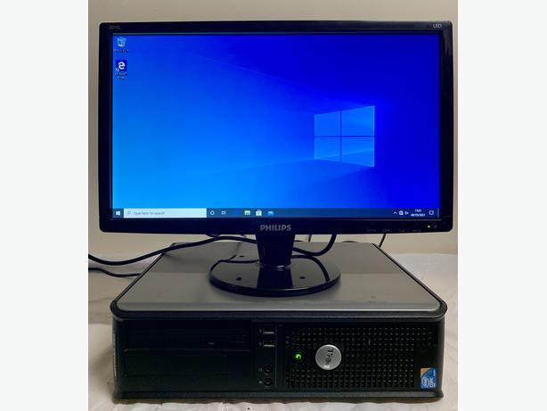 Dell 380 Optiplex Computer Desktop Pc With Phillips 20 LCD Screen