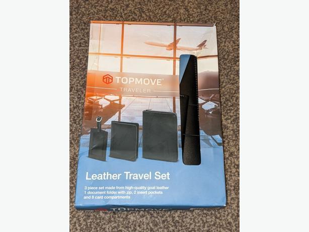 NEW Topmove leather travel set