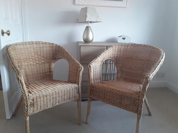 Wicker Chairs.