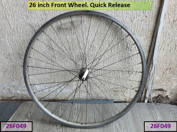 26 inch Front Wheel. Quick Release.