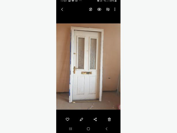 Composite front or Back door white