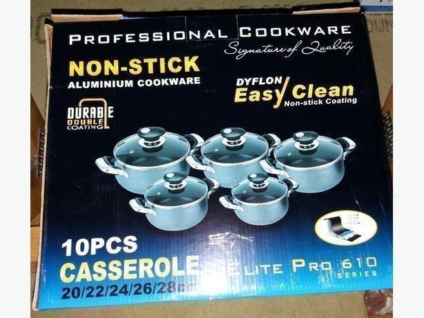 10pcs Casserole Non Stick Aluminium Cookware Elite pro 610 Series