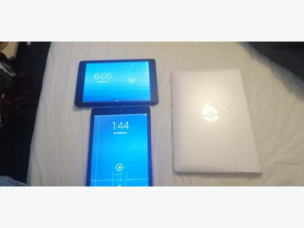 2 x tablets and one 2in1 laptop - faulty - £25 -