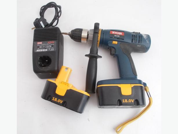Ryobi CDI-1801 18v Cordless Hammer Drill Plus 2 Batteries & Charger