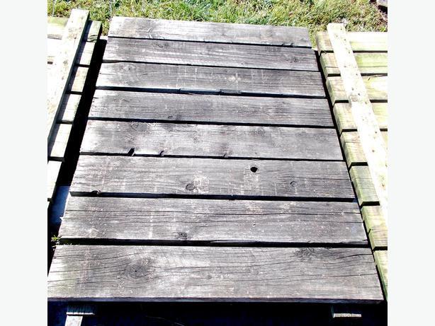 Pallet Racking Slatted Wood Boards Darker Colour