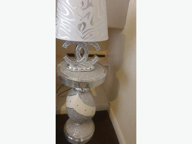 bling table and lamp