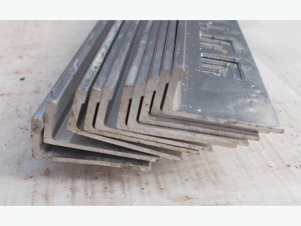 Pack of 10 Metal Silver Tile Trim L Shaped 8mm x 2.44m