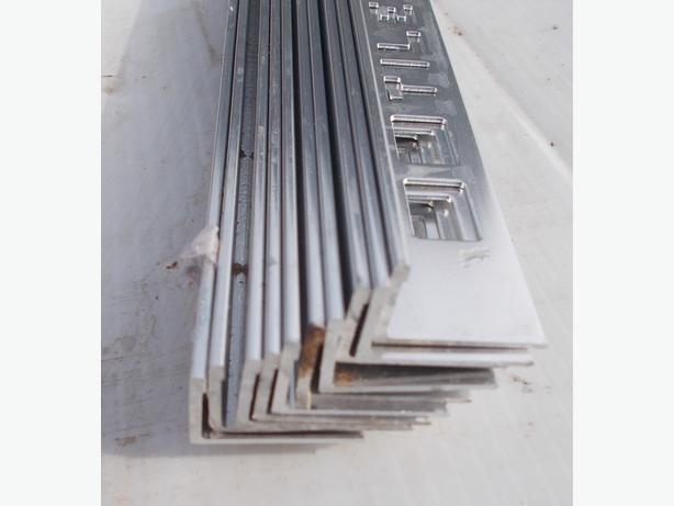 Pack of 10 Metal Silver Tile Trim L Shaped 12mm x 2.44m