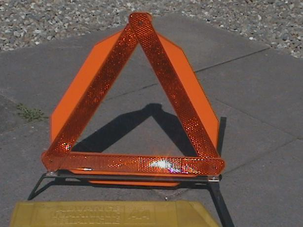 AA advance warning triangle.