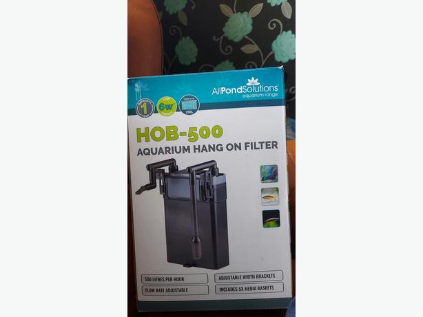 Hob-500 aquarium hang on filter
