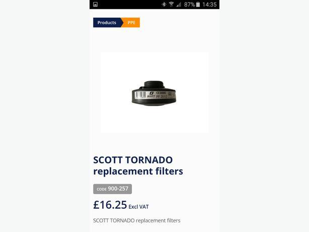 scott saftey filters