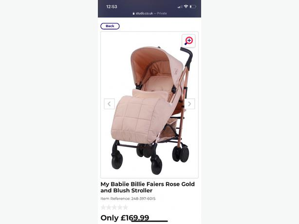 NEW my babiie rose gold stroller