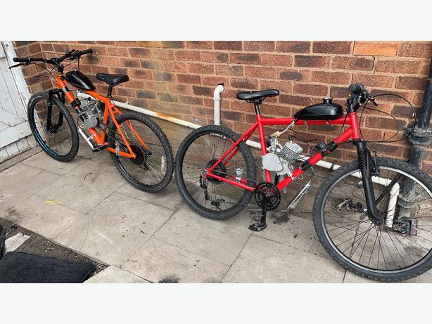 80cc pedal and pop mountian bikes