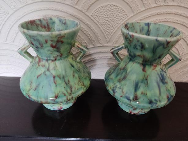 2 dover pottery vases