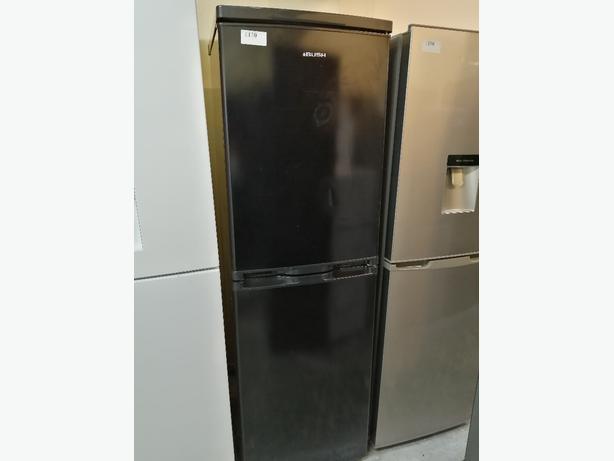 Bush fridge freezer black with warranty at Recyk Appliances