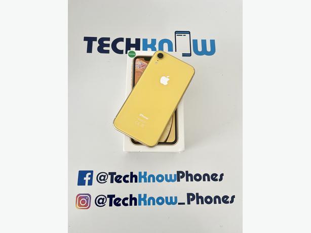 Apple iPhone XR 64GB unlocked Yellow Boxed - £229.99