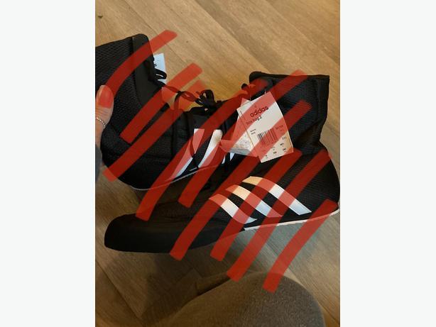 new size 11.5 adidas box hog trainers