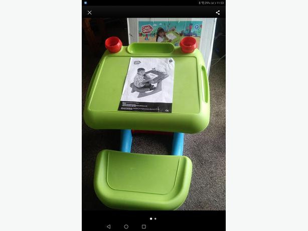 Chad Valley sit n draw desk as new boxed