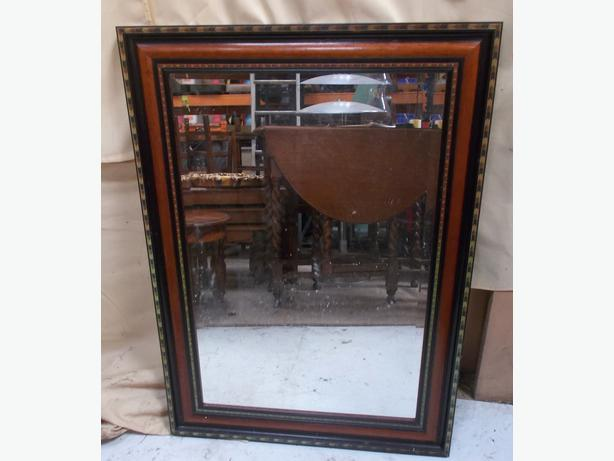 Wooden Frame Bevelled Edge Mirror