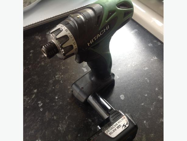 Hitachi impact drill driver with battery